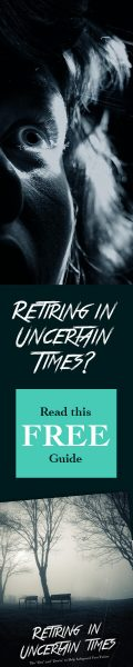 Retiring in Uncertain Times book spine